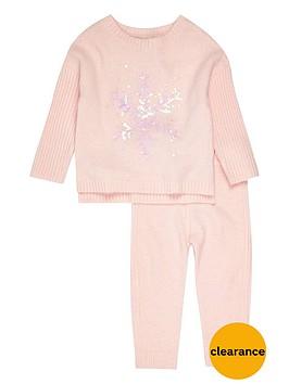 river-island-mini-girls-pink-snowflake-jumpernbspset