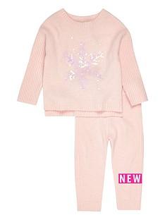 river-island-mini-mini-girls-pink-snowflake-jumper-set