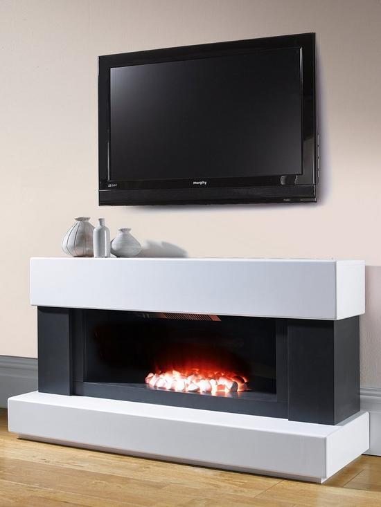 Phenomenal Verona White Grey Electric Fireplace Suite Beutiful Home Inspiration Ommitmahrainfo
