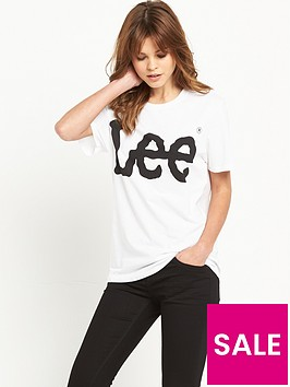 lee-logo-tee-white