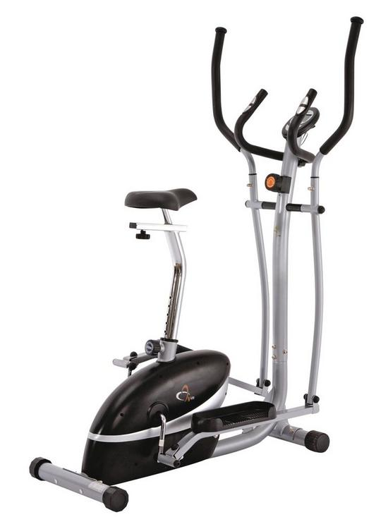 76e64bbec585 V-Fit 2-in-1 Cycle and Elliptical Cross Trainer