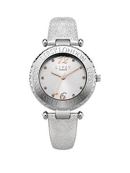 Lipsy Silver Tone Dial Silver Pu Strap Womens Watch