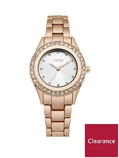 oasis-white-sunray-dial-stone-set-bezel-rose-gold-tone-metal-bracelet-ladies-watch
