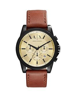 armani-exchange-outerbanks-gold-tone-multi-dial-brown-leather-strap-mens-watch