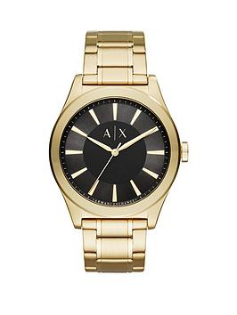 armani-exchange-black-dial-gold-tone-stainless-steel-bracelet-mens-watch