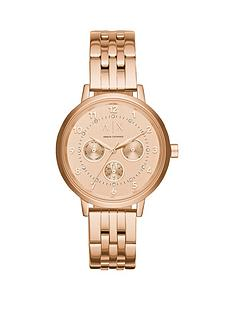 armani-exchange-rose-tone-multi-dial-stainless-steel-bracelet-ladies-watch