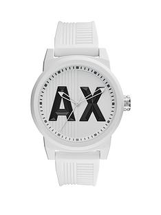 armani watches armani exchange watches for men very armani exchange white ax dial white silicone strap mens watch