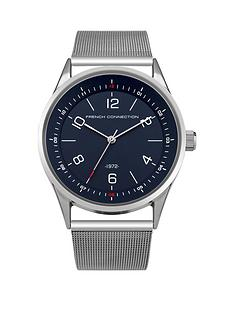 french-connection-blue-dial-silver-tone-mesh-strap-gents-watch