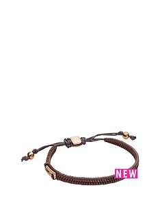 fossil-fossil-brown-plated-leather-mens-bracelet
