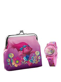 trolls-trolls-flashing-lights-lcd-watch-and-purse-set