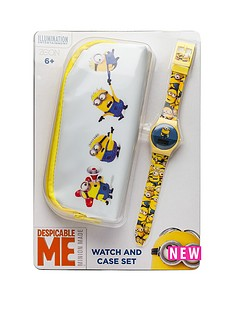 minions-minions-watch-and-pencil-case-set