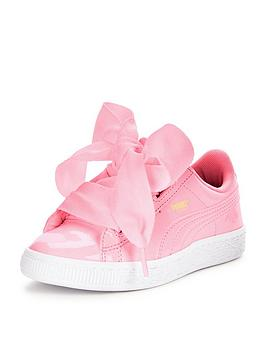 puma-puma-basket-heart-patent-childrens-trainer