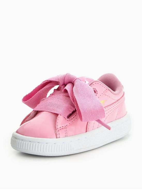 puma basket heart patent infant