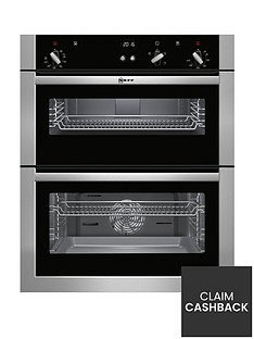 neff-u17s32n5gb-built-under-electric-double-oven-withnbspcircothermreg-stainless-steelnbsp