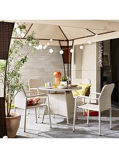 bolivia-rattan-round-glass-dining-table-and-4-steel-chairs