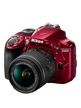 nikon-d3400-dslr-camera-with-af-p-18-55mm-vr-lens-bundle-rednbspsave-pound50-with-voucher-code-mjxaw