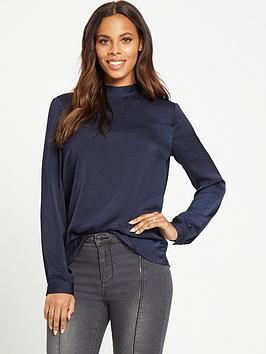 rochelle-humes-drape-back-blouse-midnight
