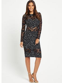 rochelle-humes-stars-and-moon-printed-dress