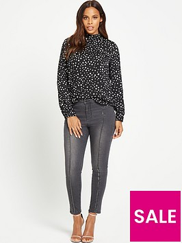 rochelle-humes-stars-and-moon-drape-back-blouse