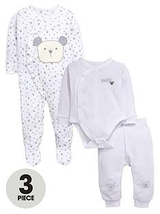 ladybird-baby-unisex-3pc-baby-bear-bodysuit-sleepsuit-and-jogger-set