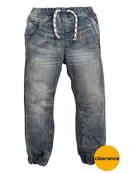 mini-v-by-very-boys-elastictednbspgrey-marble-cuffed-jeans