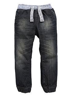 mini-v-by-very-boys-marl-rib-waist-cuffed-jeans
