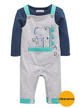 ladybird-baby-boys-bodysuit-and-3d-detail-dinosaur-dungaree-set