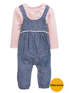 ladybird-baby-girls-floral-dungarees-and-stripe-bodysuit-set