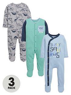 ladybird-baby-boys-dinosaur-sleepsuitsnbsp3-pack