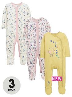 ladybird-baby-girls-floral-sleepsuitsnbsp3-pack