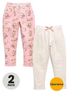 mini-v-by-very-girls-floral-and-marl-joggers-2-pack