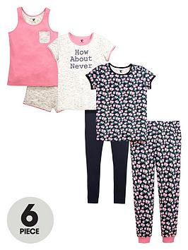 v-by-very-girls-floral-pyjamas-set-6-piece