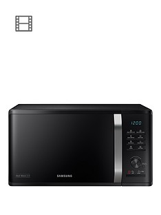 samsung-mg23k3575aknbsp23-litre-microwave-with-heat-wave-grill-blacknbsp