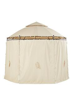 3m-round-steel-gazebo-with-sides