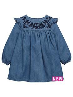 mini-v-by-very-girls-embroidered-ruffle-sleeve-denim-dress