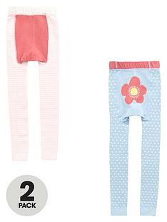 mini-v-by-very-girls-flower-spot-and-stripe-footless-tights-2-pack