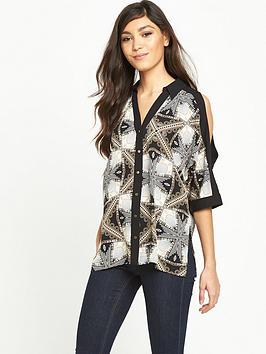 river-island-printed-cold-shoulder-shirt