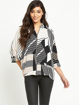 river-island-zip-front-printed-shirt