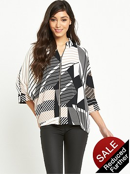 river-island-zip-front-printed-shirt