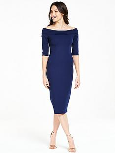 v-by-very-ponte-bardotnbspmidi-dress