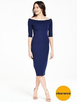 v-by-very-ponte-bardotnbspmidi-dress