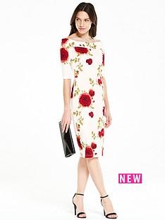 v-by-very-pontenbspfloral-printed-bardot-dress