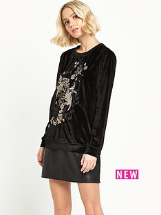 river-island-river-island-velvet-embriodered-sweat-top