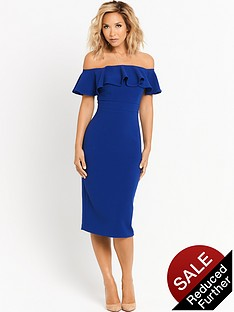 myleene-klass-ruffle-shoulder-pencil-dress
