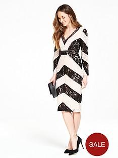 v-by-very-chevron-lace-dress