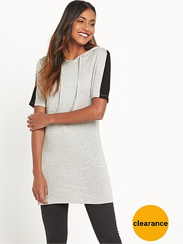 river-island-hoodie-tunic-dress-grey