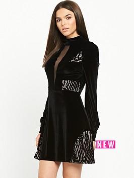 river-island-velvet-plunge-lace-dress