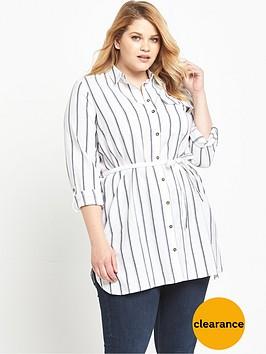v-by-very-curve-yarn-dye-stripe-long-line-shirt