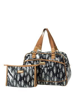 kangol-holdall-with-cosmetic-bag-set-leaf-print
