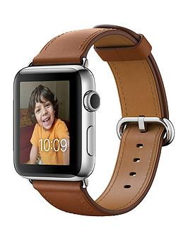 apple-watch-series-2-42mm-stainless-steel-case-with-saddle-brown-classic-buckle